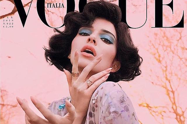 Кендалл Дженнер примерила платье невесты в фотосессии Vogue