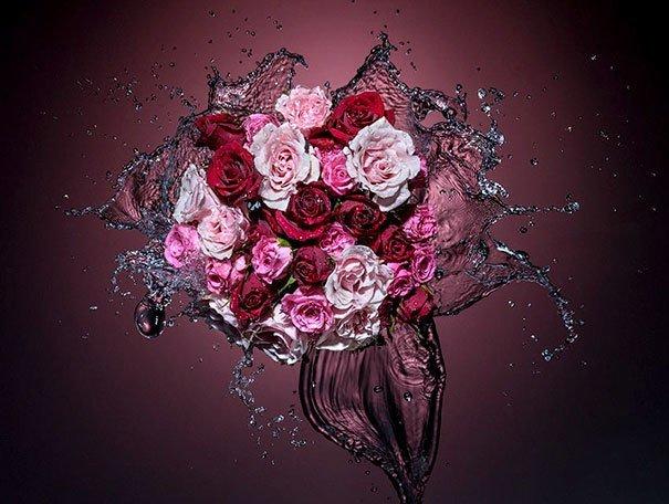 15. Розы в воде за кадром, кадры, неожиданно, постановка, постановочные фото, секреты, фото, фотограф