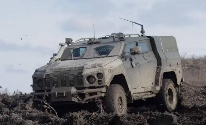 На Донбассе замечены бронеавтомобиль ВСУ «Новатор» и ПТРК «Амулет»