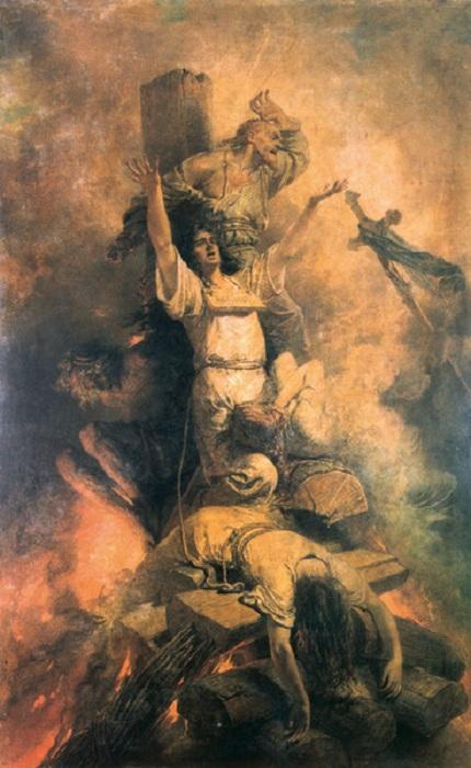 «Сожжение христиан на костре». Автор: Михаил Зичи.
