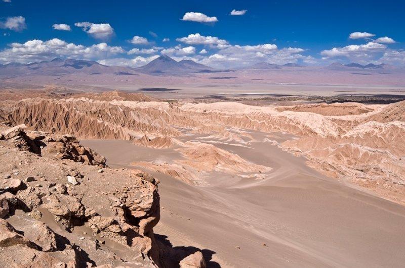2. Пустыня Атакама в Чили интересно, необитаемые места, природа, удивительные места планеты, фото