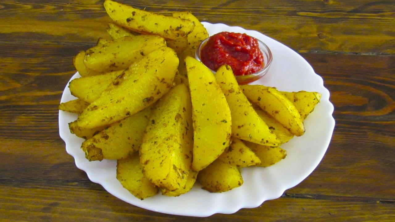 Картошка по-деревенски в духовке.