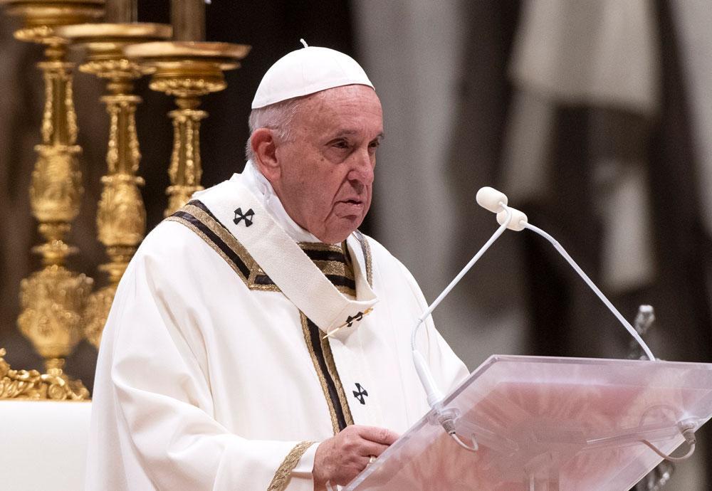 может рождественские поздравления папы римского белым орнаментом