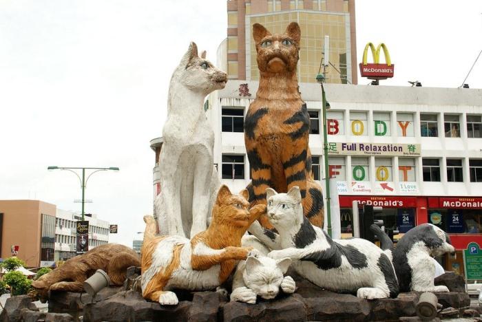 Город Кучинг – настоящий рай для любителей котов