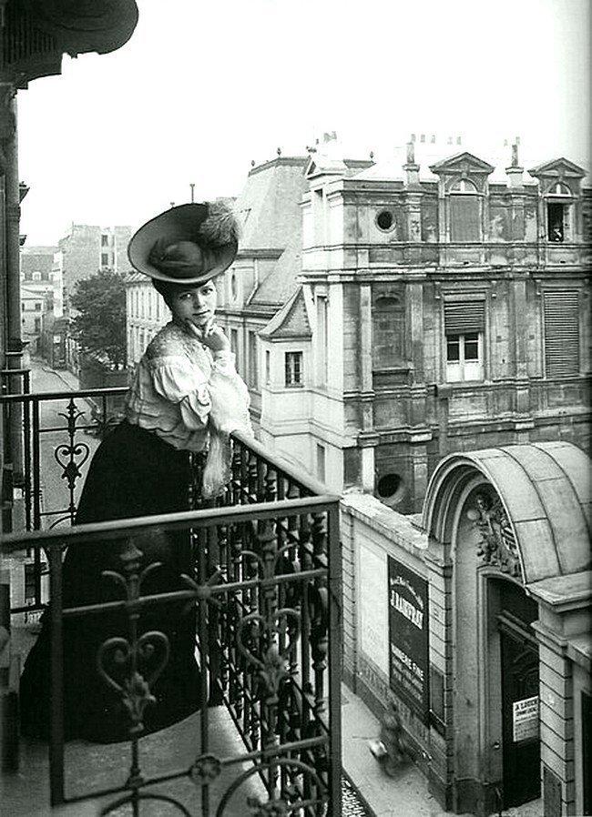 У дамы есть балкон. 1900 год Весь Мир в объективе, ретро, старые фото
