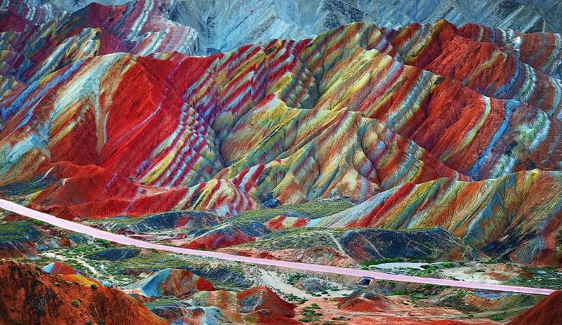8. Радужные горы в Перу интересно, необитаемые места, природа, удивительные места планеты, фото