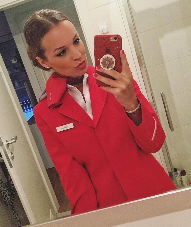 Austrian Airlines, Австрия авиакомпании, авиакомпании мира, женщины, красивые стюардессы, самолёты, стюардесса, стюардессы