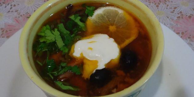 Как приготовить солянку: Овощная солянка с фасолью и грибами