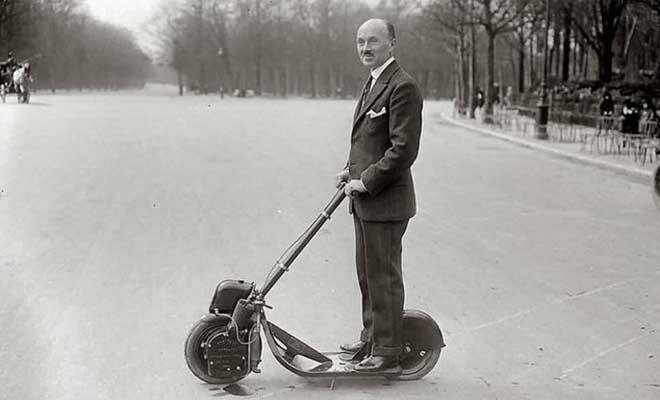 Электрические самокаты 100 лет назад. Век назад они уже были в моде