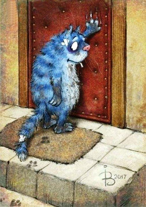 Синие коты счастья — милое и…