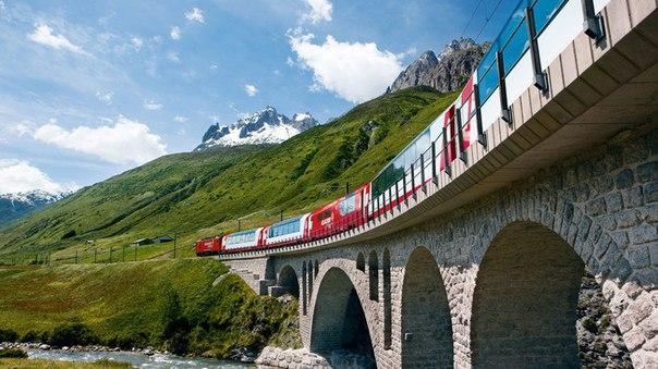 Самые красивые маршруты мира: швейцарский Ледниковый экспресс