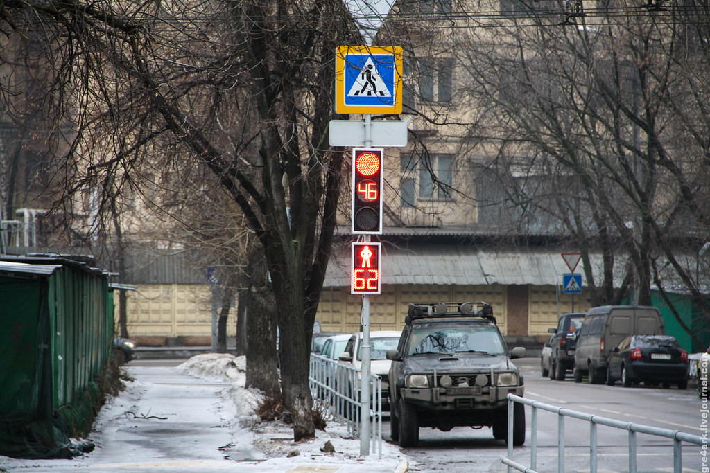 Светофоры с кнопками — новая порча московских улиц авто и мото,автоновости