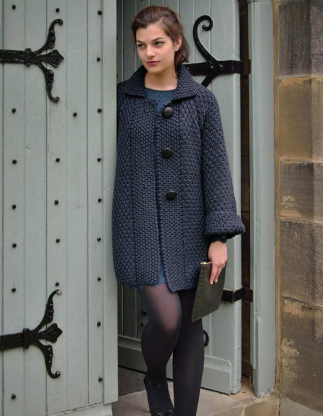Вязаные женские пальто фото