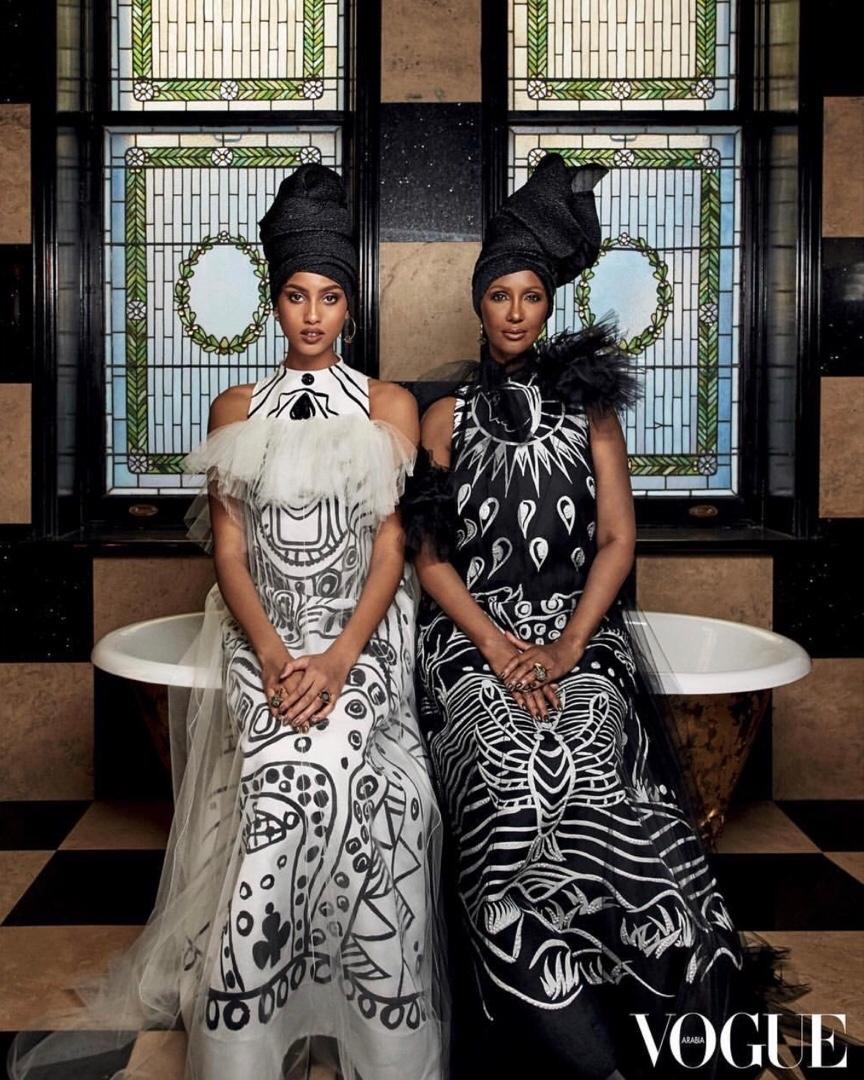 Совместная фотосессия Иман и Имаан для Vogue Arabia