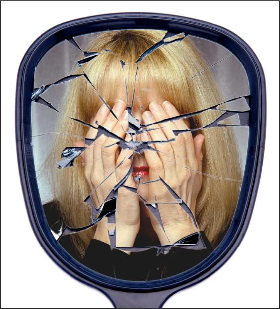 нельзя смотреть в разбитое зеркало