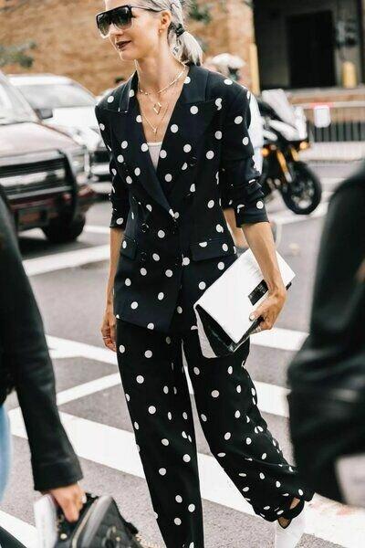 Как стильно носить принт горошек в новом сезоне мода,мода и красота,модные образы,модные тенденции