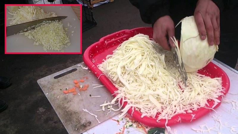 как порезать капусту