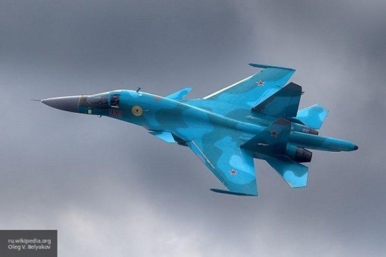Минобороны опубликовало уникальные кадры посадки Су-34