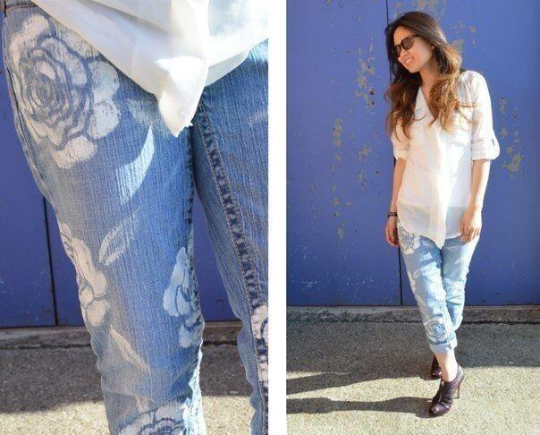 Как расписать джинсы