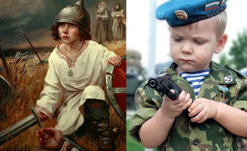 Образ воина-защитника - основа воспитания у мальчиков мужского характера и силы духа