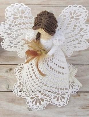 Схемы вязания рождественских ангелов крючком