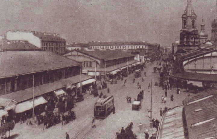 Сенная площадь в 1907 году. 1955 год, СССР, история, ленинград, факты
