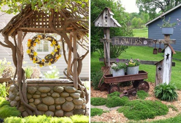 Дизайн двора в частном доме в деревне - идеи садового декора