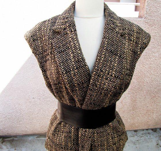 Переделываем пальто в жилет