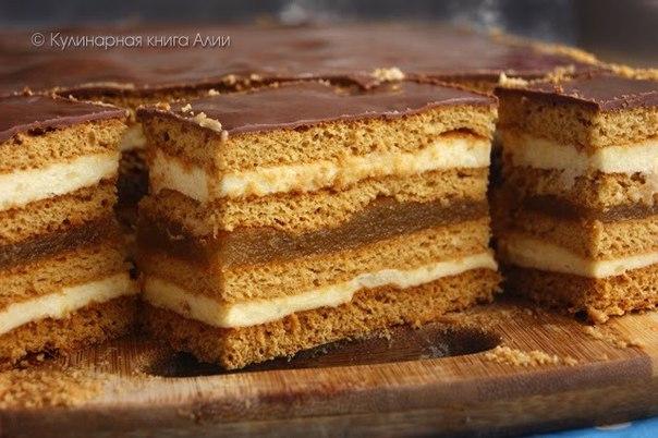 Любимый десерт из детства: нежное медовое пирожное с начинкой