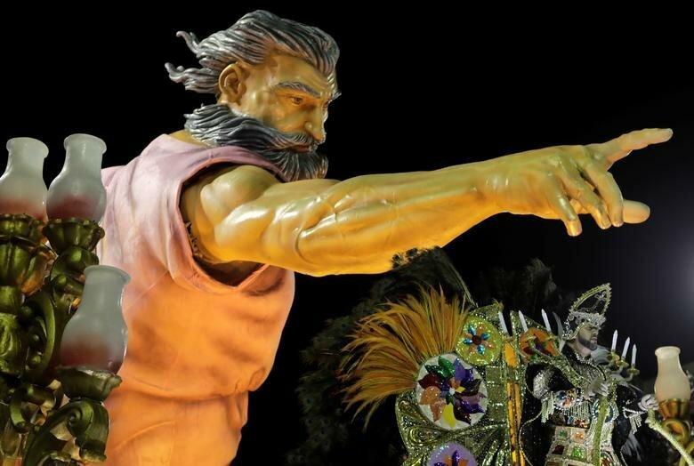 Инсталляция школы Imperio Serrano бразилия, в мире, карнавал, события, фото, фотоотчет, фоторепортаж