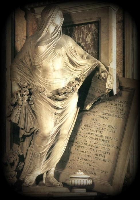Антонио Коррадини. «Целомудрие», 1752-го год, Капелла Сан-Северо Неаполь Италия