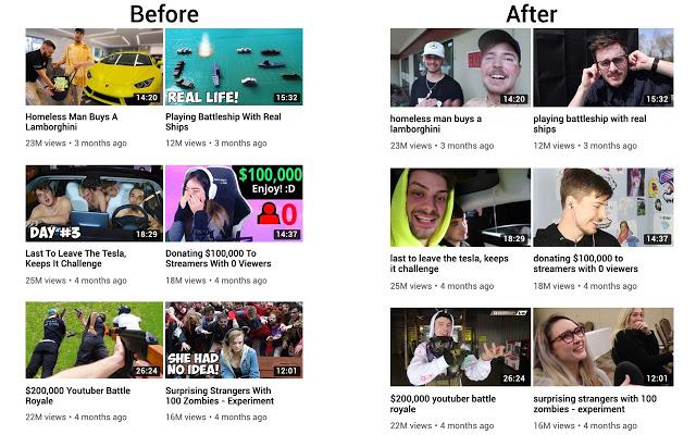 Как удалить все кликбейт-миниатюры на YouTube