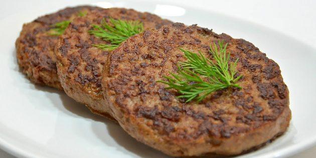 Котлеты с говяжьей печенью и мясным фаршем