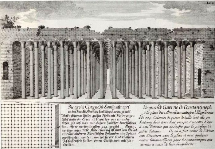 Более 7 тыс. рабов участвовали в строительстве подземного водохранилища, которое длилось почти 200 лет (Basilica Cistern, Стамбул).   Фото: wemp.app.