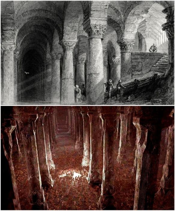Строительство самой большой подземной цистерны Константинополя началось в IV веке (Basilica Cistern, Стамбул).   Фото: javadfesharaki.blog.ir.