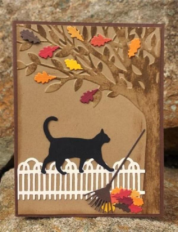 Анимация ослик, открытка на осень своими руками