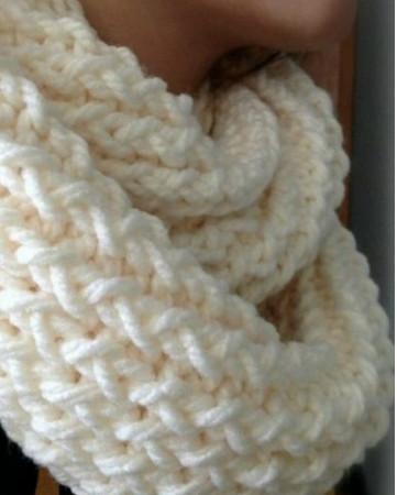 Теплый шарф, сотканный на ручном станке вязаный шарф