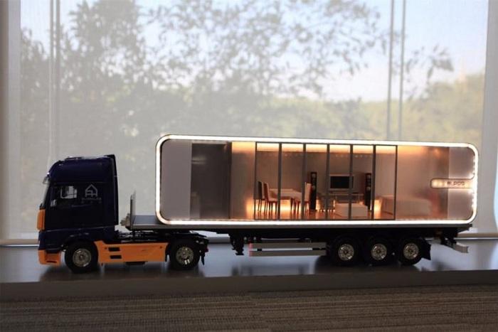 Модульный дом из алюминия очень легкий, поэтому его можно перевозить на автомобильных платформах (Alpod, Китай). | Фото: probauhaus.ru.
