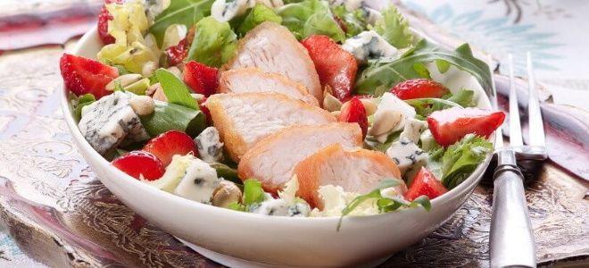 вкусный салат с курицей