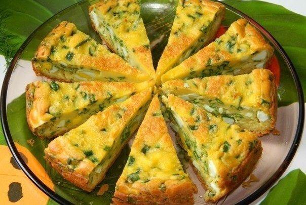 Пирог с яйцами и зеленым лук…