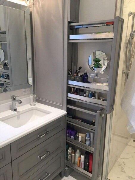 Идеи, которые можно использовать, когда места в ванной не хватает 0