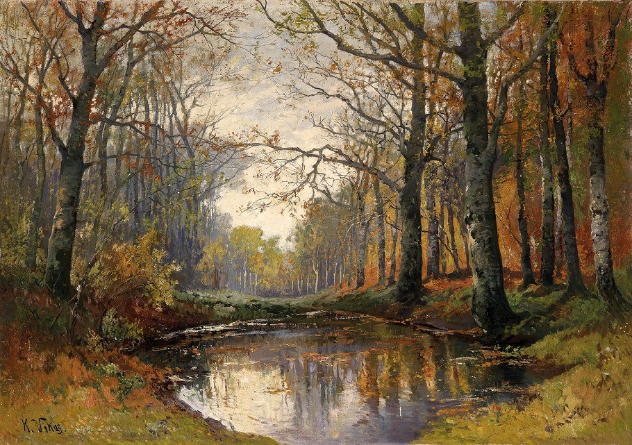 Мелодии осени. Австрийский художник Карл Викас (1875-1934)