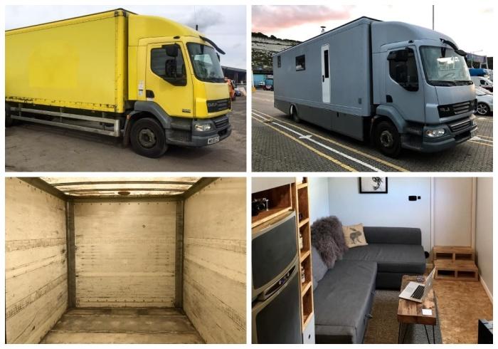 Пара энтузиастов оборудовала старый грузовик в квартиру, чтобы не платить за аренду съемного жилья