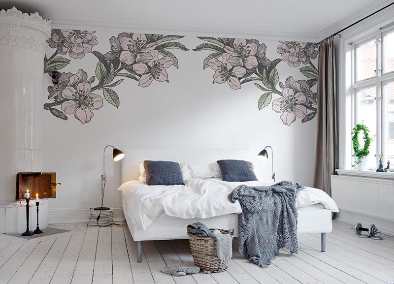 роспись стен в интерьере квартиры