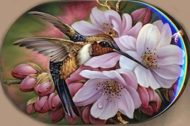 Красота лаковой миниатюры. Немного весенних красок Вам в ленту.