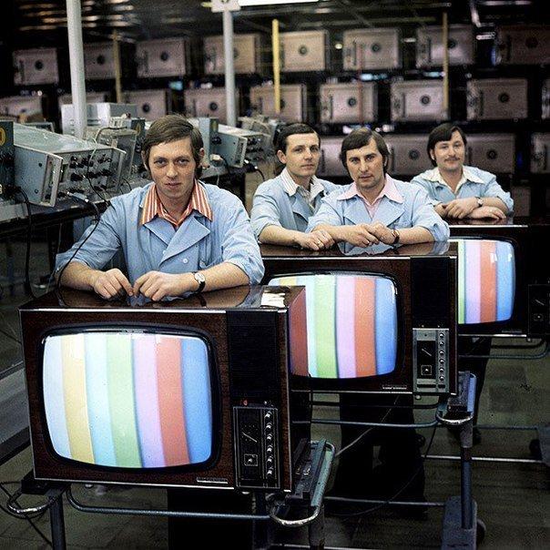 СССР. Производство цветных телевизоров. 1970–е СССР, детство, ностальгия, подборка