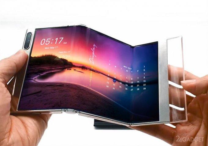 Samsung представила концептуальные гибкие экраны устройство, Samsung, экрана, Display, схеме, мультимедиа, экранкнижка, гибкий, складывающийся, дюймовый, представленной, новинкой, одной, многозадачностью, Разработчики, работу, Microsoft, облегчает, миллиметров, десятков
