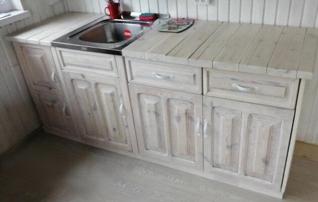 Мини-кухня для дачи своими руками из остатков. Затраты на мебель составили 1000 рублей