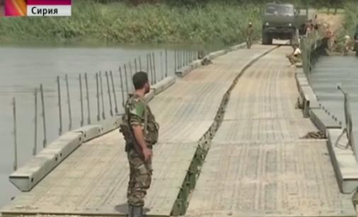 В Сирии обрушился построенный российскими военными мост через Евфрат