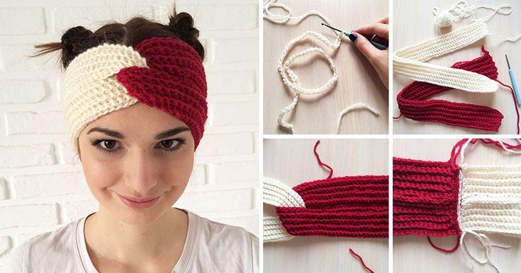 Как связать повязку на голову легко и просто 1